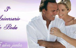 La romántica felcitación de Julio Iglesias a su mujer Miranda