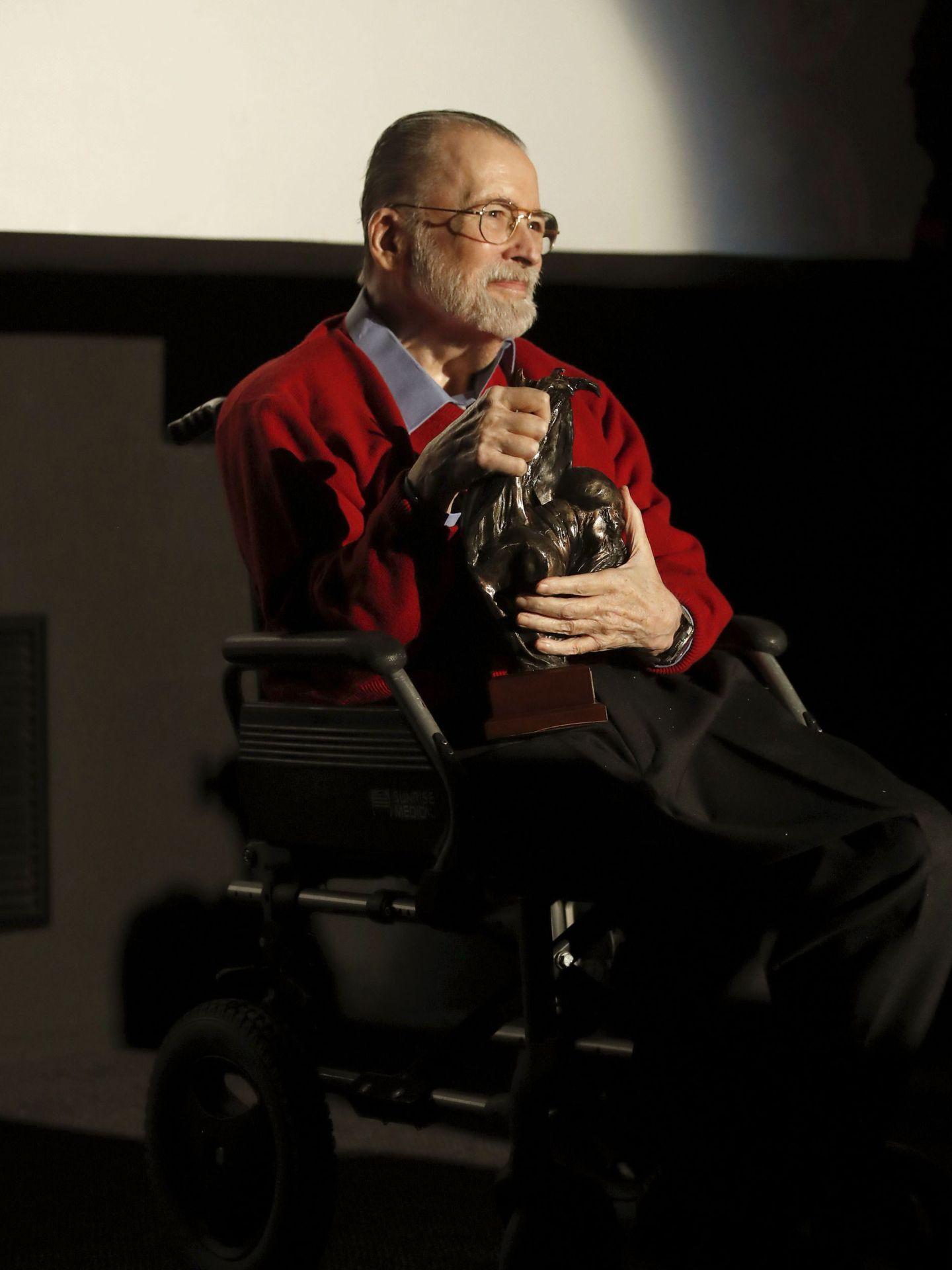 Narciso Ibáñez Serrador durante un homenaje recibido en la gala de inauguración del la V edición de Nocturna Madrid, festival de cine fantástico. (EFE)