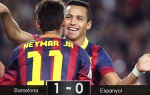 Alexis aprovecha la maravilla de Neymar para rescatar al Barça