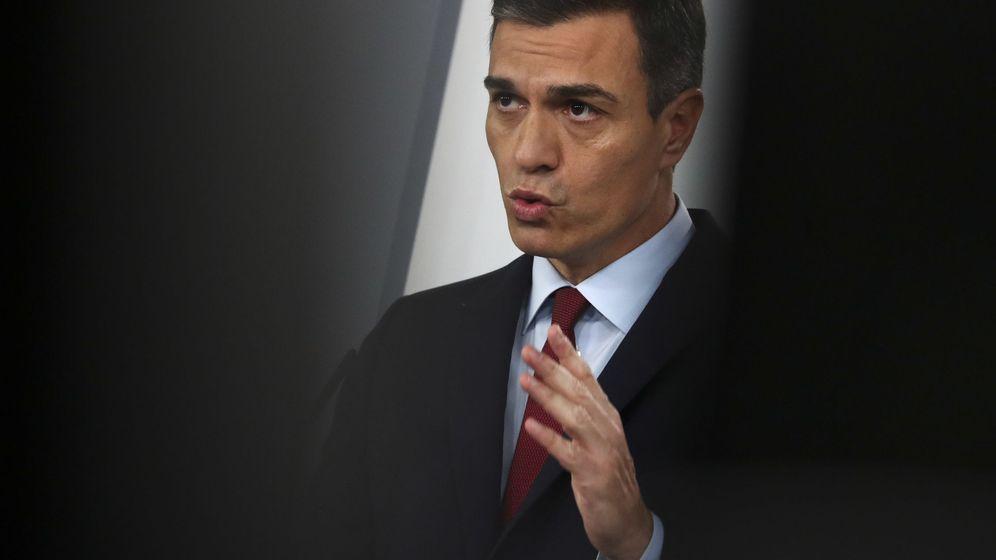 Foto: Pedro Sánchez durante su comparecencia en Moncloa este sábado. (Reuters)
