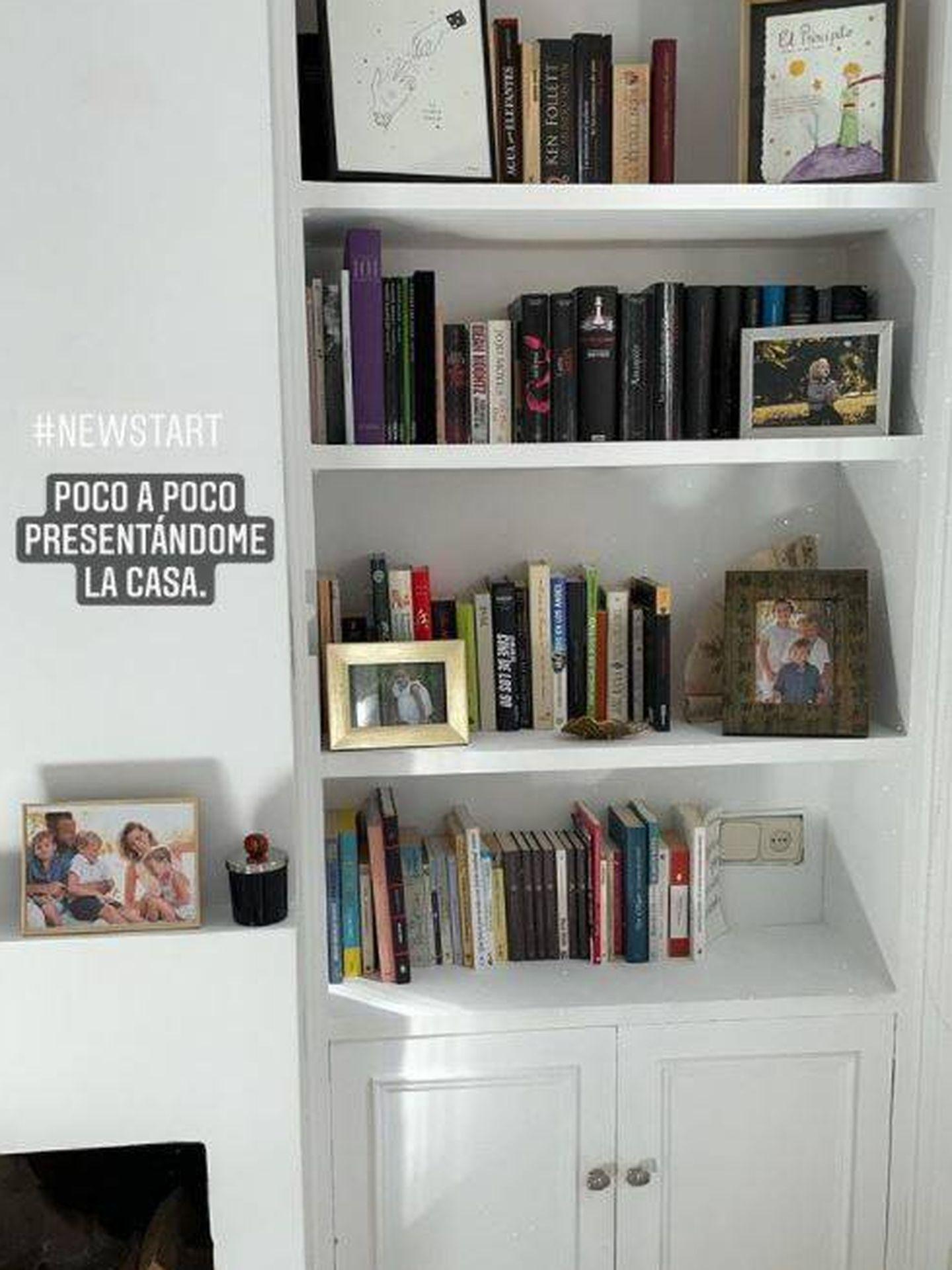 Librería de obra de la casa de Eugenia Osborne. (Redes)