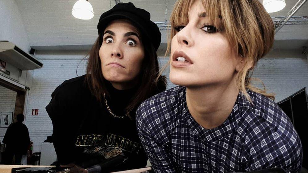 Foto: La actriz Blanca Suárez posa con la maquilladora Natalia.