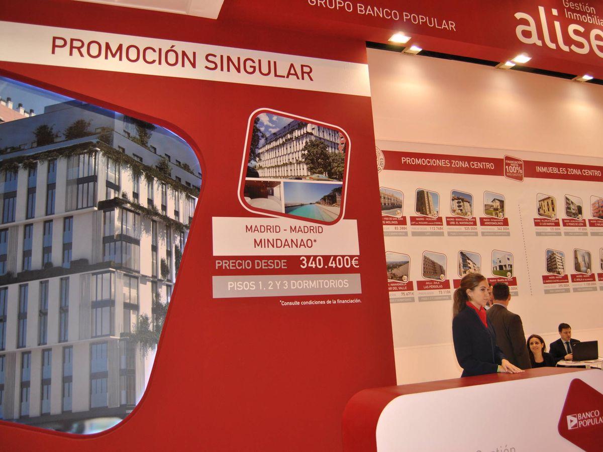 Foto: Estand de Aliseda en el Salón Inmobiliario de Madrid. (El Confidencial)