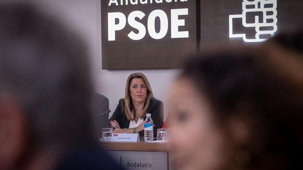 Foto: Susana Díaz preside el comité ejecutivo del PSOE-A tras las elecciones. (EFE).