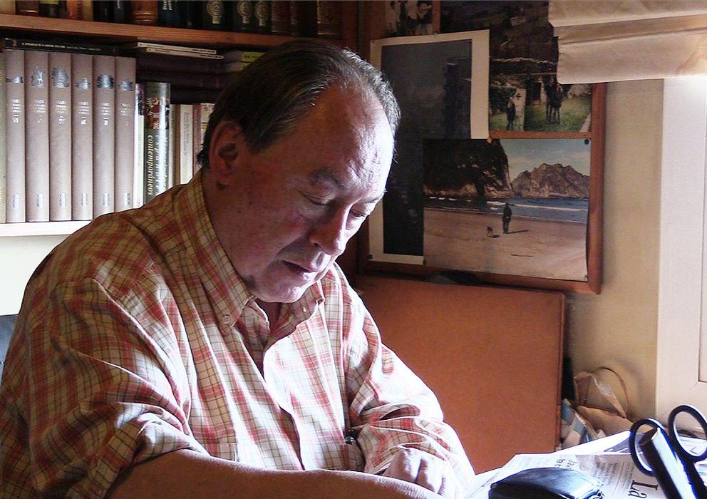 Foto: El periodista asturiano Gregorio Morán (Enrique Villarino)