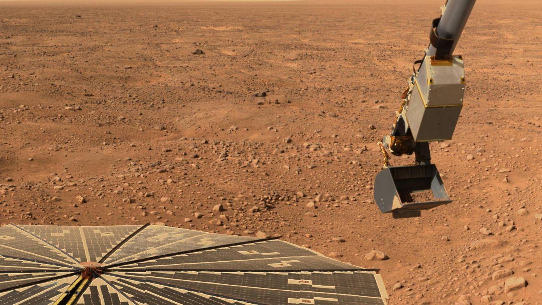 Imagen de la superficie de Marte enviada por la Phoenix Mars Lander de la NASA. (Reuters)