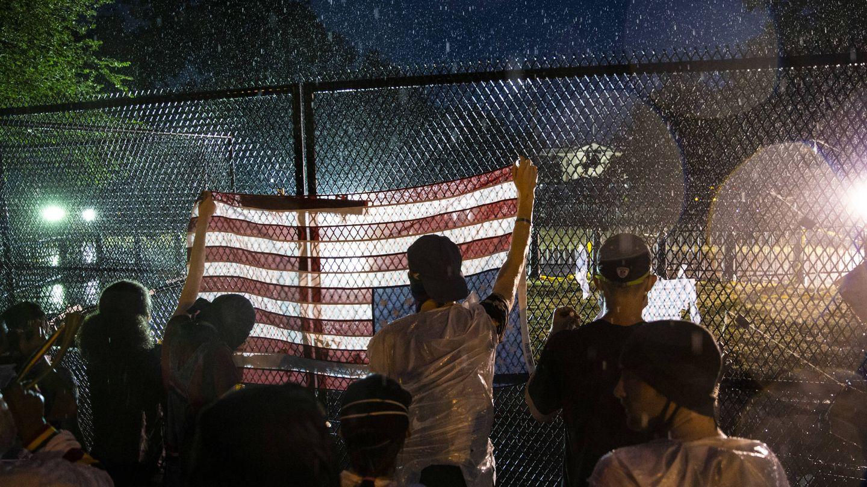 Las protestas frente a la Casa Blanca. (Getty)