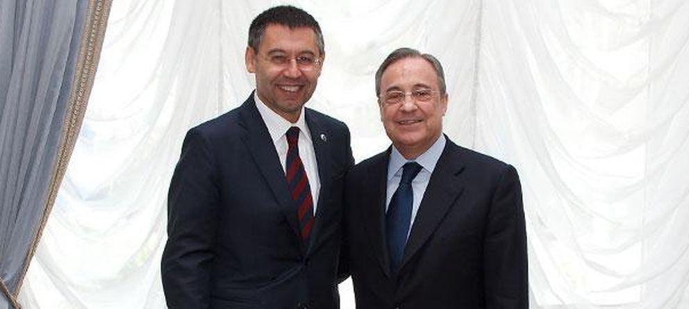 Foto: Josep María Bartomeu y Florentino Pérez