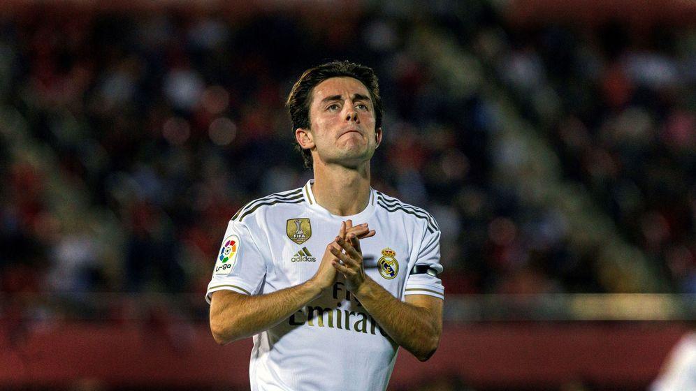 Foto: Álvaro Odriozola, durante el partido del Real Madrid en Mallorca. (EFE)