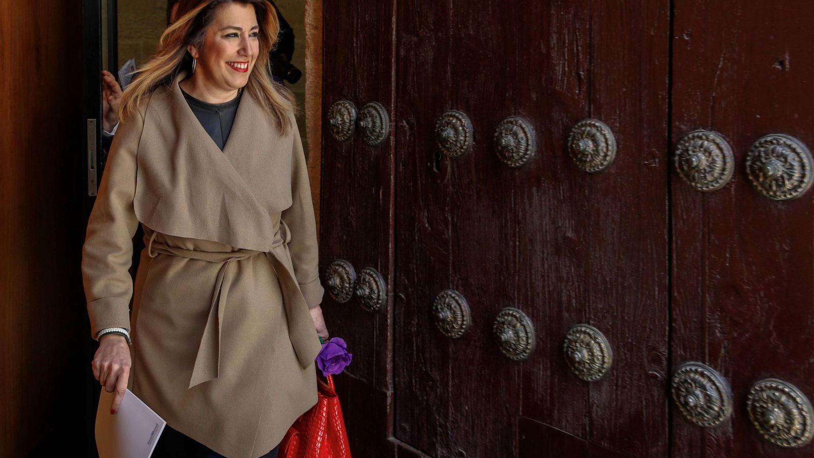 Foto: Susana Díaz sale del Parlamento de Andalucía, el pasado 7 de marzo. (EFE)