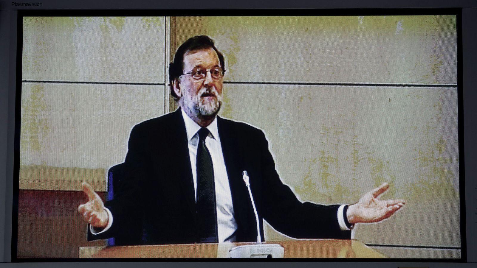 Foto: Imagen del presidente del Gobierno compareciendo el pasado julio en la Audiencia Nacional. (EFE)