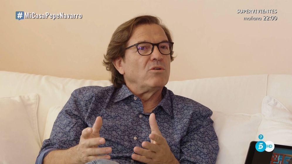 Foto: Pepe Navarro conversa con Bertín Osborne en Telecinco. (Mediaset España)