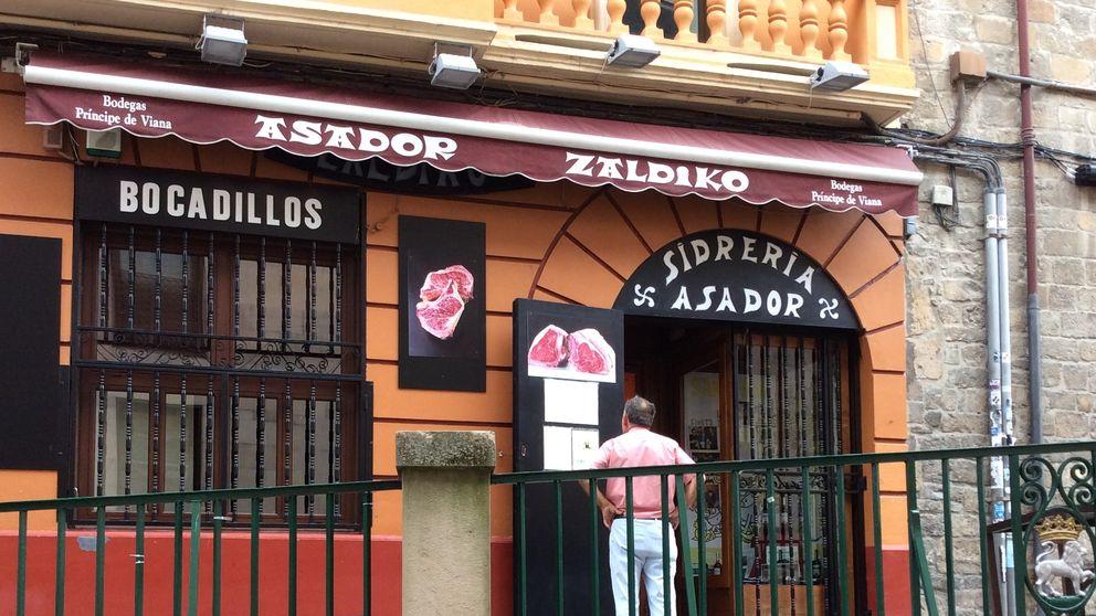 Sidrería asador Zaldiko, en el casco viejo de Pamplona