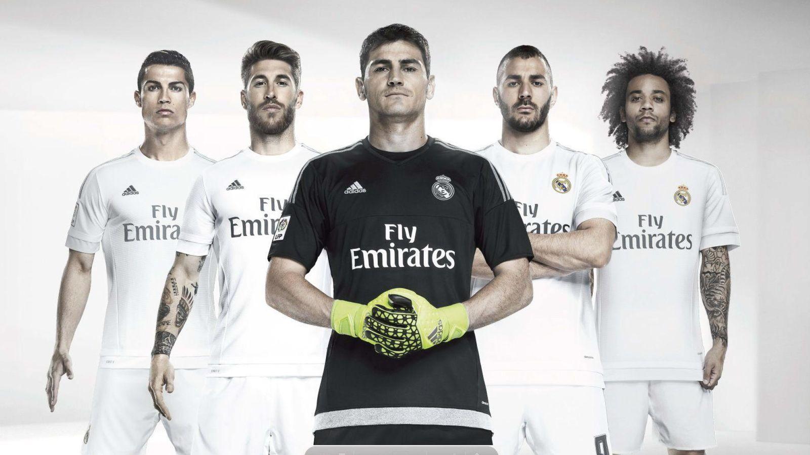 Foto: Presentación de la nueva camiseta del Real Madrid, con Cristiano, Ramos, Casillas, Benzema y Marcelo