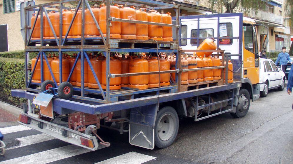 Foto: Un camión de reparto de bombonas de butano (Flickr/Daniel Lobo)
