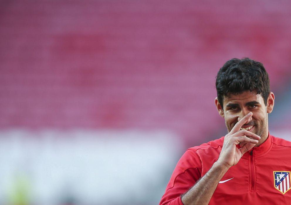 Foto: Diego Costa en la previa de la final qus su exequipo jugó contra el Real Madrid (Efe).