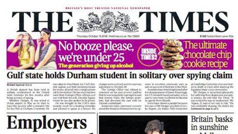 Nadal limpiando en Mallorca, en la portada de 'The Times': así cubre la prensa la tragedia