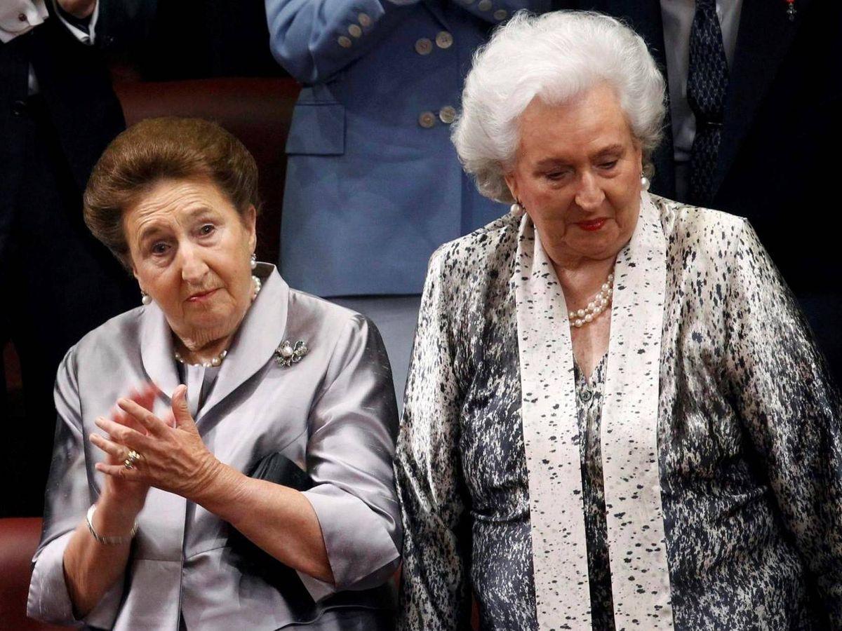 Foto: Infantas Margarita y Pilar, en una foto de archivo. (Reuters)