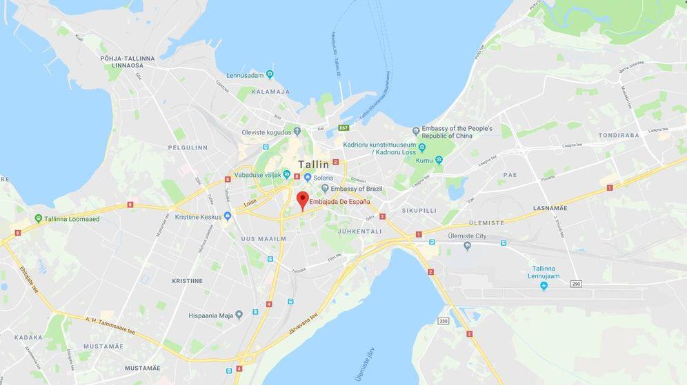 Foto: Localización de la Embajada española en Tallin, Estonia.