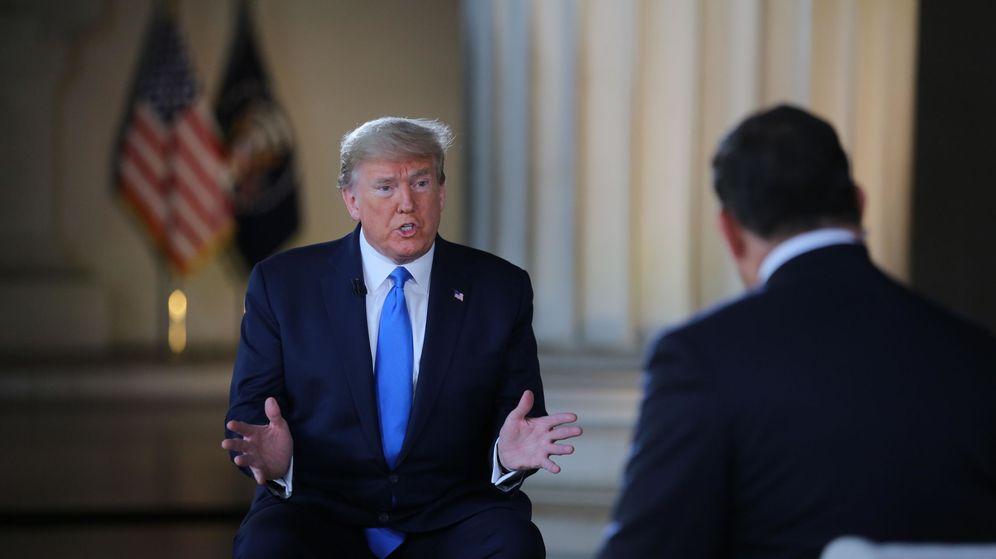 Foto: Donald Trump, en el Lincoln Memorial. (EFE)