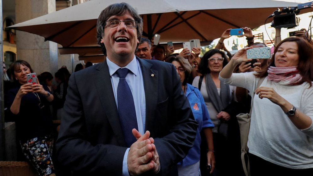 Foto: El 'expresident' Puigdemont en octubre en Girona. (Reuters)