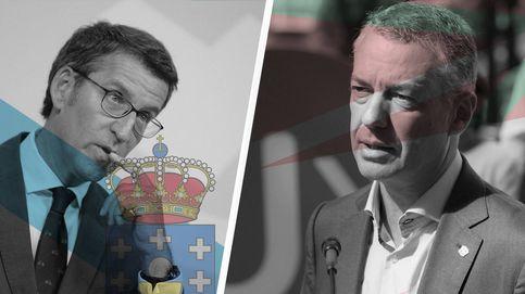Feijoó y Urkullu juran sus cargos como presidentes en actos marcados por el covid