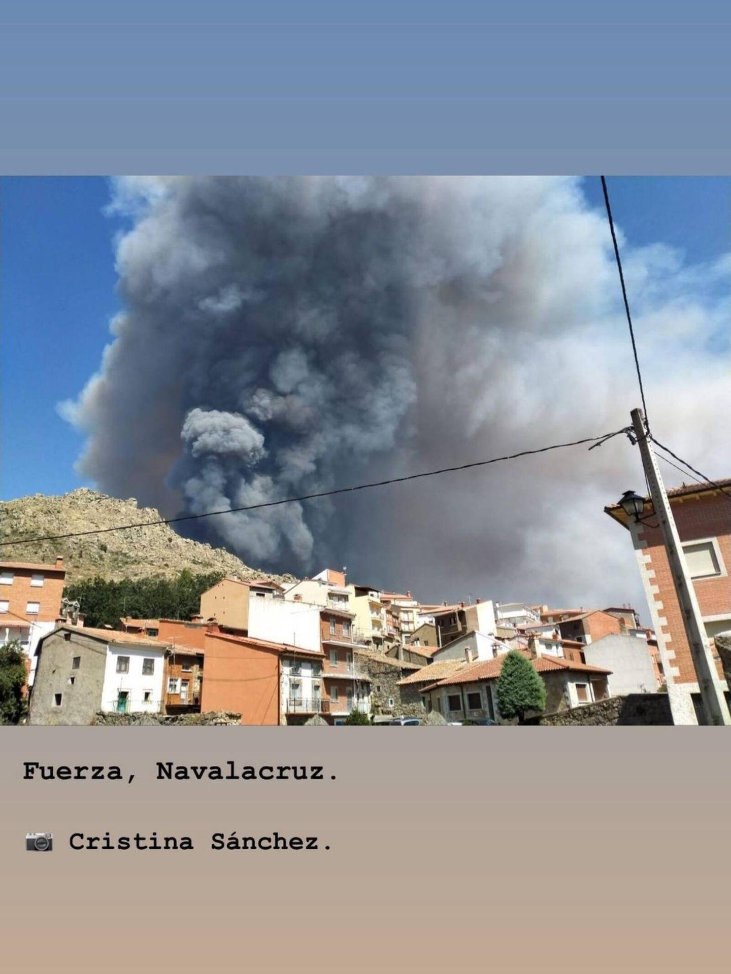 Sara Carbonero, preocupada por Navalacruz, el pueblo de Iker Casillas. (Instagram @saracarbonero)