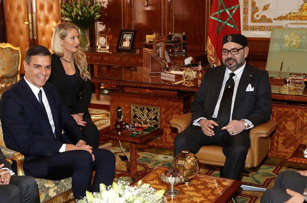Foto: Pedro Sánchez y Mohamed VI, este 19 de noviembre en el Palacio Real de Rabat. (EFE)