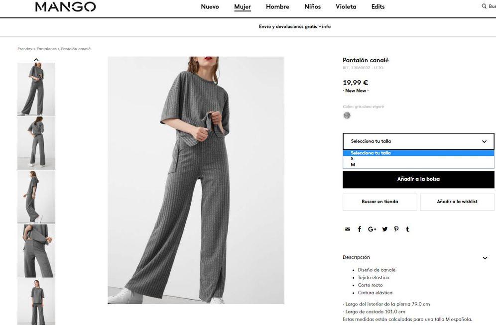 Foto: Un 15% de los pantalones de Mango ni siquiera supera la talla 40.
