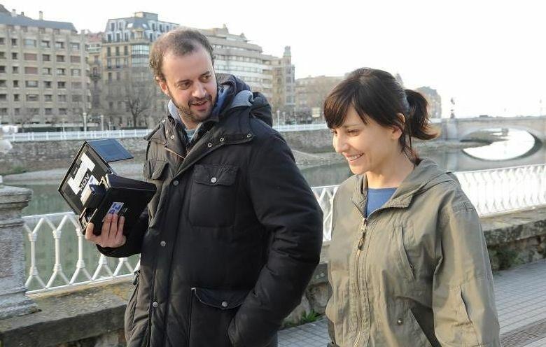 Fernando Franco y Marián Álvarez en el rodaje de la película