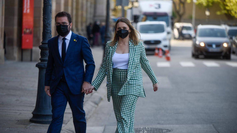 Pere Aragonès y Janina Juli. (Imagen: Arnau Carbonell)