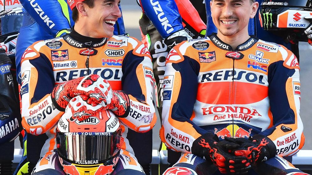 Foto: Marc Márquez y Jorge Lorenzo en el Gran Premio de Catar.