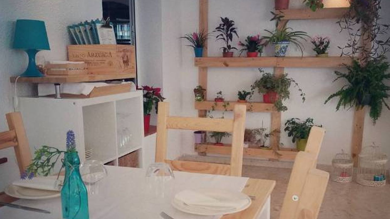 Un rinconcito del restaurante Aguamarina.