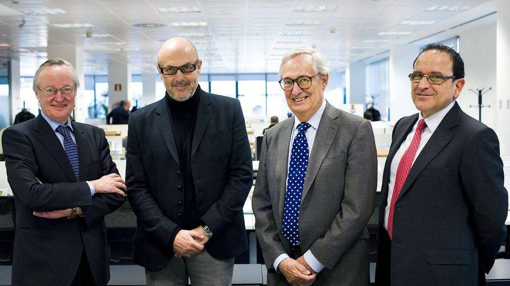 Foto: Josep Piqué, Manuel García Durán, Luis Solana y José Wahnon Levy en una foto de archivo