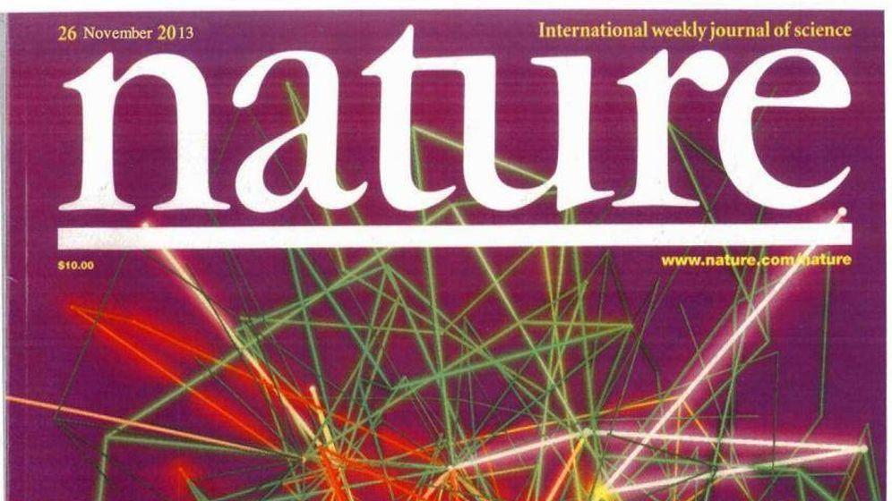 Foto:  Portada de un ejemplar de Nature