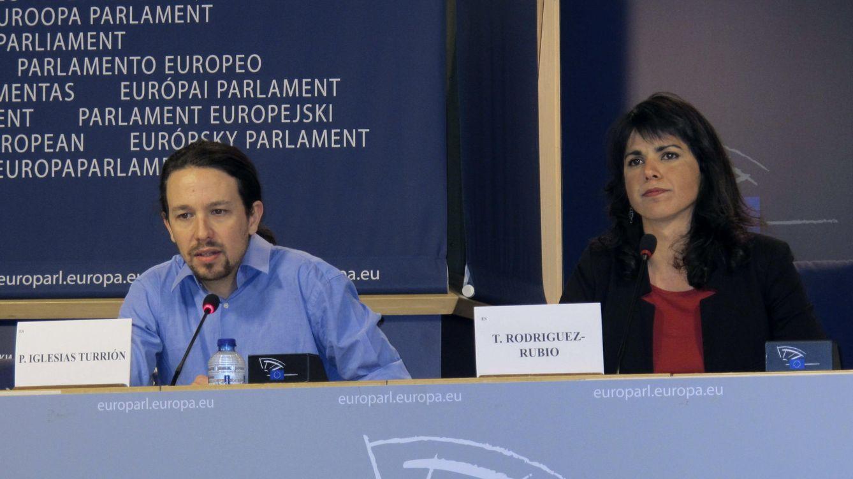 Foto: Teresa Rodríguez anuncia su renuncia al escaño en la Eurocámara al concurrir como candidata de Podemos a la Presidencia de la Junta de Andalucía. (EFE/Lara Malvesí)
