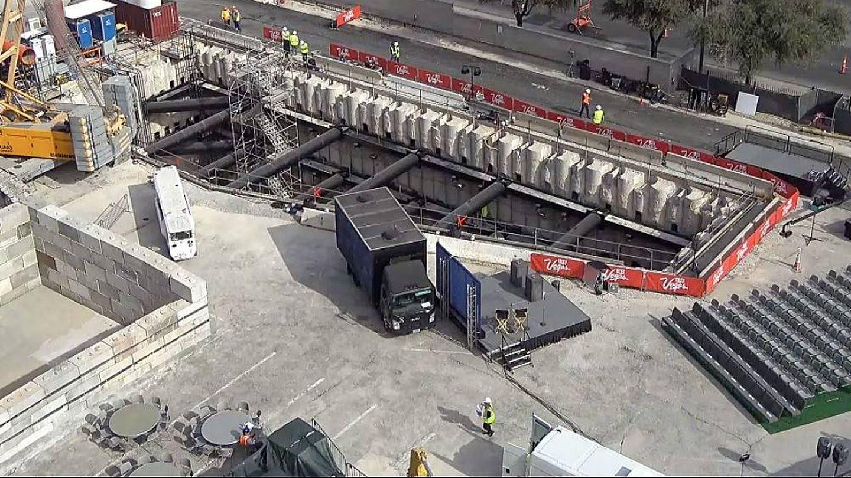 Vista aérea de las obras. (YouTube)
