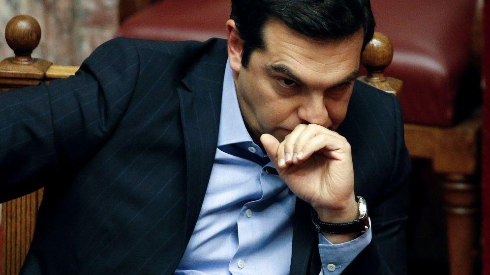 Foto: El primer ministro de Grecia, Alexis Tsipras, durante la votación en el Parlamento heleno. (Reuters)