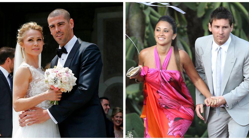 Víctor Valdés se casa y Leo Messi despide a su 'wedding planner'