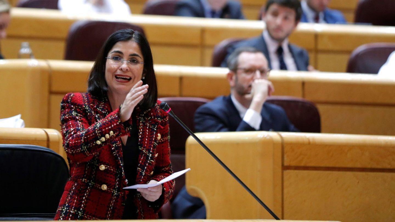 Carolina Darias interviene en la sesión de control al Gobierno en el pleno del Senado. (EFE)