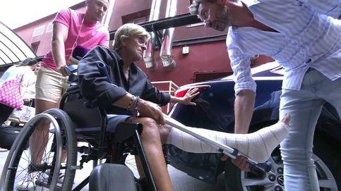 Chelo García Cortés recibe 28 puntos en la pierna tras su caída en Telecinco
