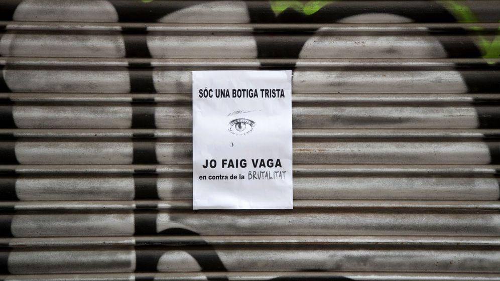 Foto: Jornada de paro en el barrio de Gràcia (EFE)
