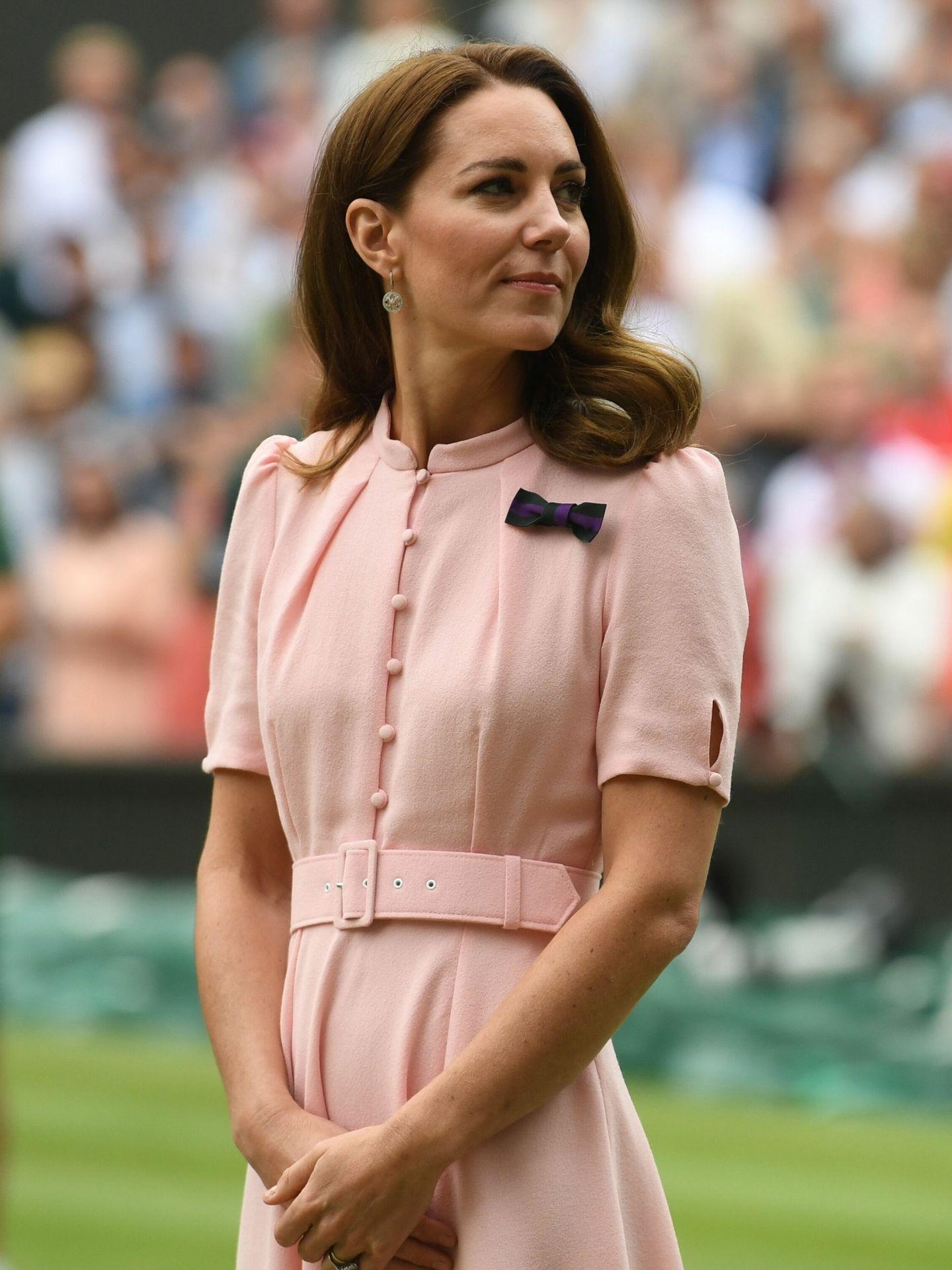 Kate Middleton, en la final de Wimbledon. (EFE)