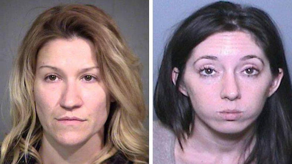 Foto: Angela Maria Diaz y Michelle Hadley: dos mujeres y un misterio. (Fotografías policiales)