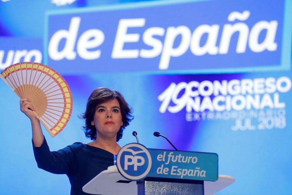 Foto: Santamaría durante su discurso en el XIX Congreso del PP. (EFE)