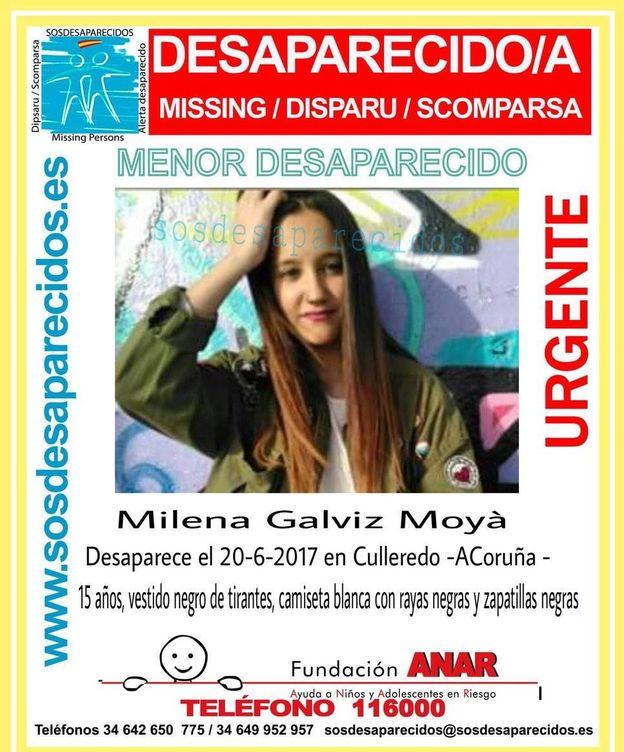 Foto: Cartel de la desaparecida Milena Galviz Moya.