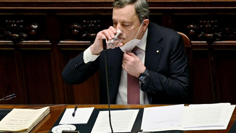 Draghi, en su comparecencia ante el Parlamento italiano. (Reuters)