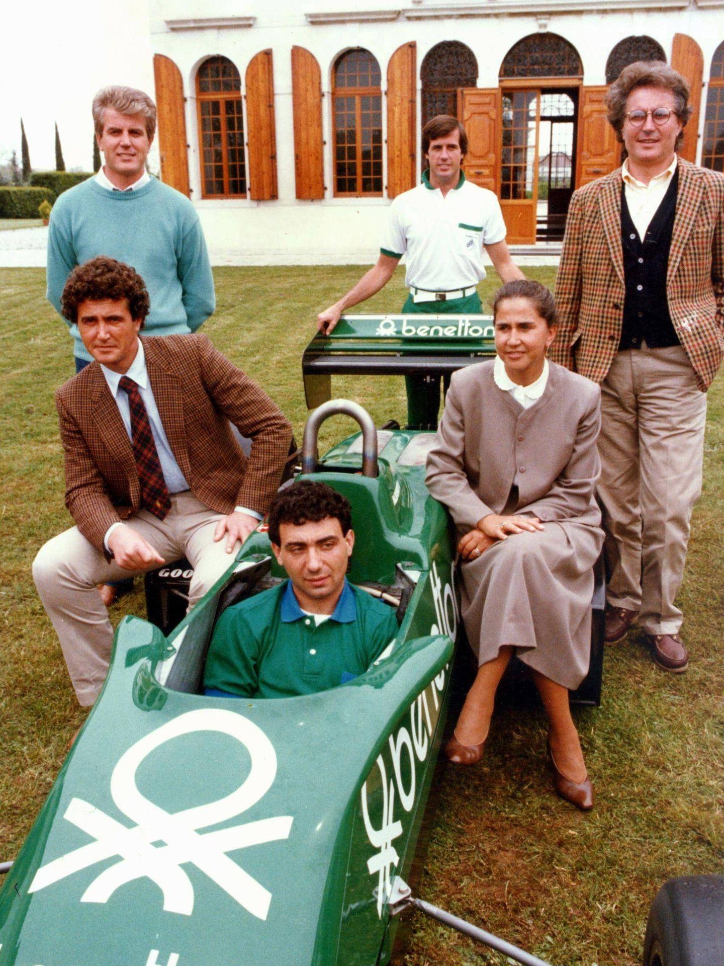Los Benetton, de izquierda a derecha: Gilberto, Luciano, Carlo, Alboreto y Luciana. (Cordon Press)