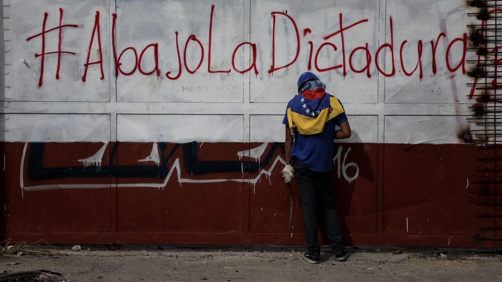 Foto: Disturbios días antes de las elecciones a la Asamblea Nacional Constituyente. (EFE)