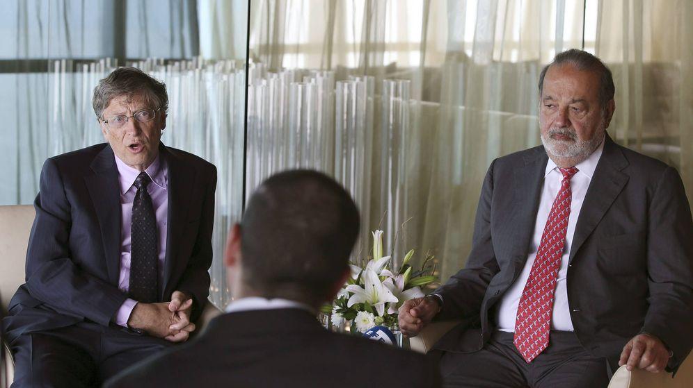 Foto: Fotografía de archivo de Bill Gates (i) y el mexicano Carlos Slim. (EFE)